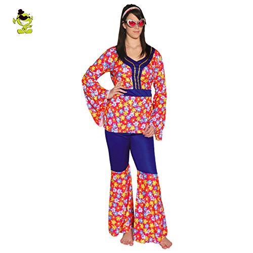 GAOGUAIG AA Neue Erwachsene Hippie Regenbogen Flower Dance Kostüm Damen Ankünfte 60er Jahre Cosplay Party Hippie Phantasie Kostüme SD (Color : Onecolor, Size : Onesize) (Neue Jahre Party Kostüm)