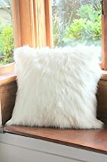 the purple tree Faux Fur Cushion (White, STST00024) - Set of 1 Piece