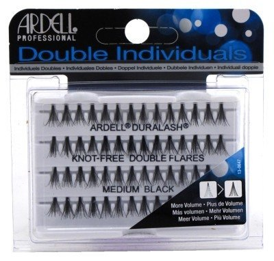 Ardell Double Individuals Knot Free Double Flares Black Med (2 Pack) by Ardell -