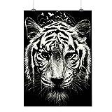 Bengale tigre Visage Génial La nature Matte/Glacé Affiche A2 (60cm x 42cm) | Wellcoda