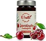 Fruchtaufstrich Sauerkirsche mit Xylit, ohne Zuckerzusatz, 70% Fruchtanteil, 250g