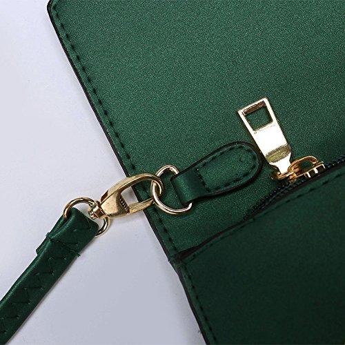 Handtasche, große Kapazität Damen Handtaschen, geeignet für Shopping Einkaufen Casual Reißverschluss Lanyard Tasche, einfache großzügige Brieftasche (Beige) Grün