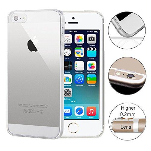 Deerstone Iphone 4 / 4S Silikon Schutz-Hülle TPU Handyhülle Klar Transparent Durchsichtig Clear Case Cover Ultra Dünn Klar Bumper Iphone 4s Hülle