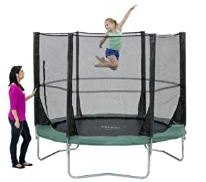 Plum Products Kids Space Zone Trampoline and 3G Enclosure - Green, 8 Ft