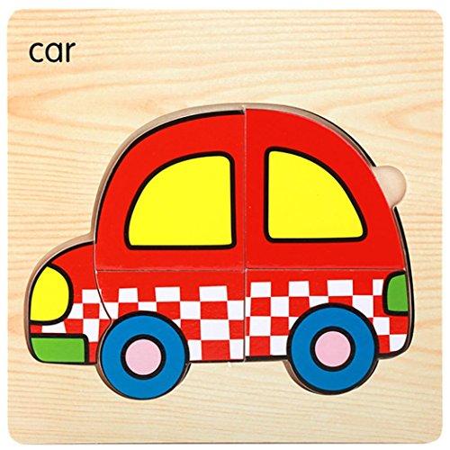 Hölzernes Puzzlespiel Für Geschenk, Sansee Lovely Puzzle Pädagogische Entwicklungs-Baby Kinder Training Spielzeug Geschenk (#1140, (Figur Kostüme Machen Zu Zu Buch Hause)