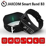 JAKCOM 2 in 1 Bluetooth Kopfhörer SmartWatch Armbänder,Fitness Aktivitätstracker mit Bluetooth Kopfhörer IP55 OLED Uhr Smart Armband Bracelet mit Schrittzähler,Schlafmonitor,SMS Anrufe Reminder für iOS/Android - Schwarz
