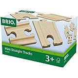Brio  - 33333 -  Circuit de train en bois  -  Mini-droites Mixtes - 54 mm