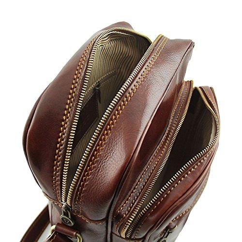 Tuscany Leather Oscar Exklusive Herrentasche aus Leder Braun Braun