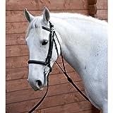 William Hunter Equestrian Hy Chambon-COB/completo-nero-Progettato per incoraggiare il cavallo da trasportare la testa in posizione a lungo e basso