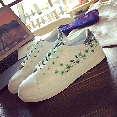 de à Chaussures green Femme Lacets Ville hunpta Pour Cganq5w5