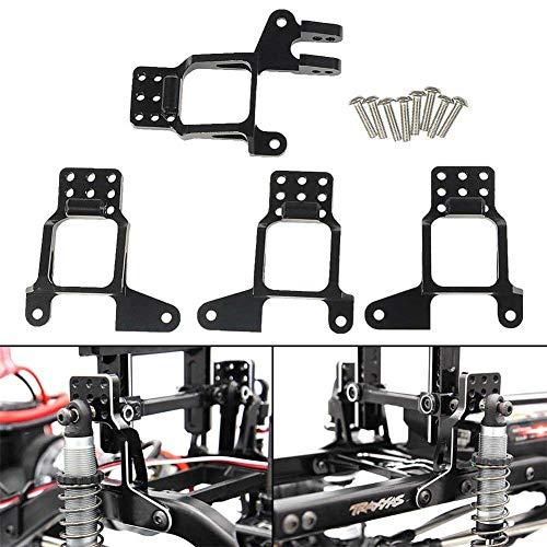 Yiwa Véhicules Accessoires Support de Support d'amortisseur Avant/arrière en Aluminium RC 1/10 pour Accessoires de Voiture de modèle réglable Multi-Trous pour TRAXXAS TRX-4