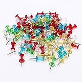 200 Stück Glasklar Bunt Sortiert Push Pins Reißnägel Pinnnadeln Karte Zeichnung