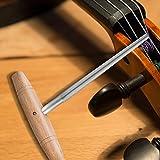 Tbest Alesatore per Piolo Violino, 3/4 4/4 Alesatore per Viola con Manico in Legno Conico Utensile per Liuteria in Acciaio ad Alta velocità per Riparazione di Violini