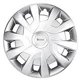 Michelin 92022 Radzierblenden Michelle für Transporter, Van und Wohnmobile, 4-Teilig, 38,1 cm Reflektorsystem N.V.S, Silber, 4-Er Set, 15 Zoll