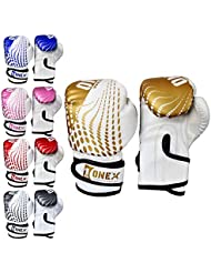 Onex Junior/kids Boxing Gloves Sparring * Pro 2oz-4oz-6oz Punch Bag Fight MMA Muay Thai Grappling Fight Mitts Martial Arts Training Kickboxing Punching Glove