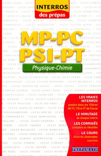 Physique - Chimie MP-PC-PSI