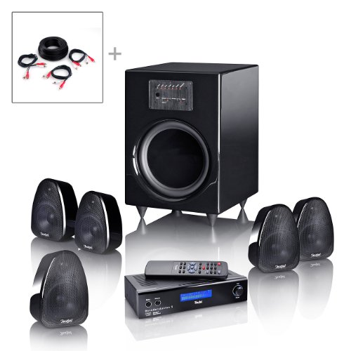Teufel Motiv 5Digital 5.1Kanäle schwarz-Set Lautsprecher-Tischset-Lautsprecher (5.1Kanäle, 70W, 4Ohm, 400W, 13kg)