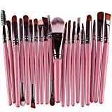 Bluester 20 pcs Makeup Brush Set tools Make-up Toiletry Kit Wool Make Up Brush Set (Pink)