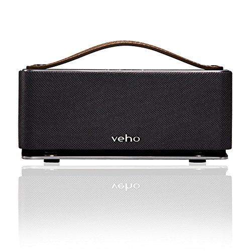Veho VSS-012-M6-360-Modus Retro drahtlose Bluetooth Lautsprecher mit Mikrofon silber