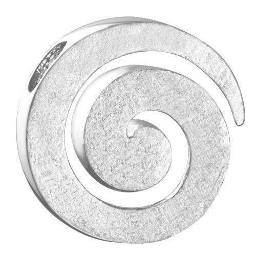 Vinani Anhänger Spirale gebürstet Sterling Silber 925 ASR-EZ