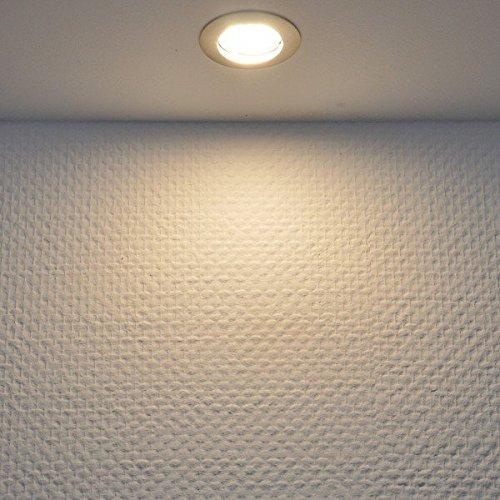 IP44 LED Einbaustrahler Set Bicolor (chrom / gebürstet) mit LED GU10 Markenstrahler von LEDANDO – 5W DIMMBAR – warmweiss – 110° Abstrahlwinkel – Feuchtraum / Badezimmer – 35W Ersatz – A+ – LED Spot 5 Watt eckig - 3