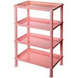 XQXBaño inodoro lavabo baño estante aseo almacenamiento estante , pink , l four floor