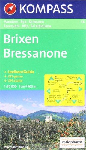 Brixen/Bressanone: Wander-, Bike- und Skitourenkarte. GPS-genau. 1:50.000