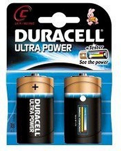 Duracell Ultra Power Alkaline C Batterien, 2er Pack (Energizer 9v Akku-ladegerät)