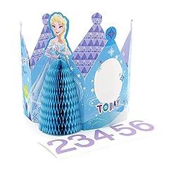 Idea Regalo - Hallmark, biglietto di auguri di compleanno per bambini di 2-6 anni, personalizzabile, motivo: Disney Frozen