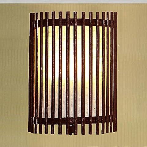 Der Neue Chinesische Restaurant Wall Lamp Club Korridor Wand Rattan Bambus - Led - Beleuchtung Schwarz