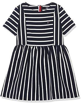 Tommy Hilfiger Ame Bi Stripe Dress S/S, Vestito Bambina