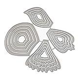 DIY Roqueles para Álbumes de Recortes, DIPOLA Scrapbooking Cortar Plantillas Troquelado Kit, aplicar para Sizzix Big Shot/Cuttebug y otro Embossing Máquina &001