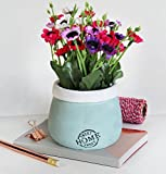 #6: TIED RIBBONS Artificial Flowers with Vase for gift office table living room bedroom