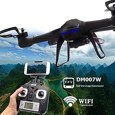 Yacool ® Nighthawk Dm007w Wifi Real-time 2.4g Newest Rc Quadcopter Drone UAV RTF UFO with FPV Camera