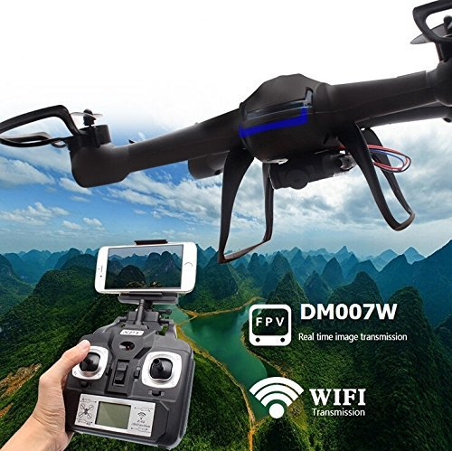 Yacool ® Nighthawk Dm007w Wifi Echtzeit-2.4g Neueste Rc Quadcopter Drone UAV RTF UFO mit FPV Drohne Mit Kamera