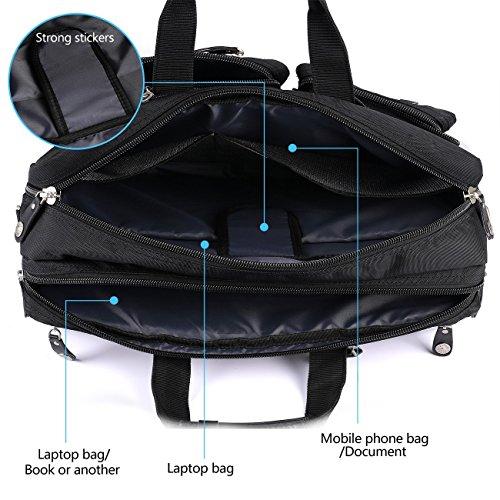FreeBiz 18 Zoll Laptop Tasche Multifunktions Laptop Aktenkoffer Rucksack mit Tragegriff und Schultergurt Passend bis zu 184 Zoll Gaming Laptops fr Dell AsusMsi 184 Zoll Schwarz Ruckscke