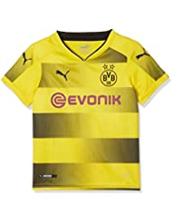 Puma Kinder Bvb Kids Home Replica Shirt with Sponsor Logo Fußball T-Shirt