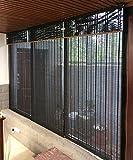 WUFENG Hecho A Medida Persiana De Bambú Panel De Cortina De Bambú Cortinas Anti-insectos Para Puertas Balcón Salón Salón De Té Cortina De Sol cortina ( Color : A , Tamaño : 100*120cm )