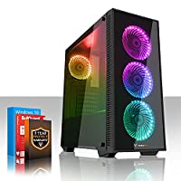 Fierce MEDUSA RGB Gaming PC Desktop Computer - Fast 4GHz Quad Core Intel Core i7 4790 - 1TB Hard Drive - 8GB of 1600MHz DDR3 RAM / Memory - NVIDIA GeForce GTX 1050 Ti 4GB - HDMI, USB3, Wi-Fi - Perfect for competitive gaming - Windows 10 Installed - 3 Year