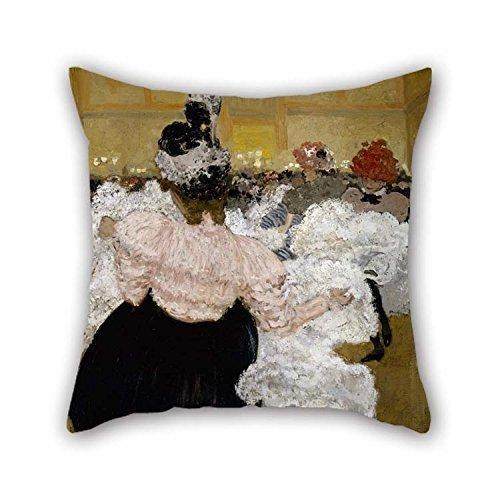 Das Öl Gemälde henri-jacques-edouard Evenepoel-AT THE Moulin Rouge Kissen von 50,8x 50,8cm/50von 50cm Dekoration Geschenk für Diwan Eßzimmer Home Theater Ihre BF Outdoor (Zwei Seiten) -