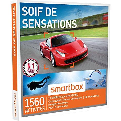 SMARTBOX - Coffret Cadeau - SOIF DE SENSATIONS - 1560 activités : CONDUITE DE GT (FERRARI, LAMBORGHINI, PORSCHE), PARAPENTE, AVION, JET SKI