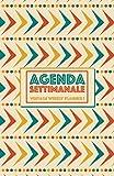 Agenda Settimanale Vintage Weekly Planner 1: Weekly Planner, Agenda perpetua in italiano senza data, life organizer da borsa, 12 mesi, 54 settimane