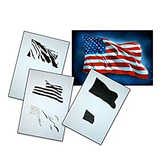 UMR-Design AS-077 USA Flagge Airbrushschablone Step by Step Grösse L