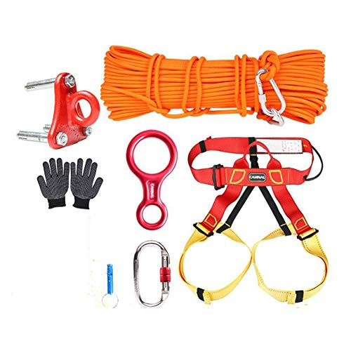 GYHHHM Seilset, Home Fire Escape Rescue Rope Anti-Fall Safety Rope Gym Kletter-Ropes 10m