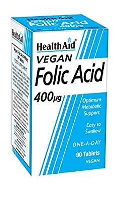 HealthAid Folic Acid 400g - 90 Tablets by HealthAid
