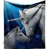 Nemesis Now - Manta de unicornios blancos, 160 cm
