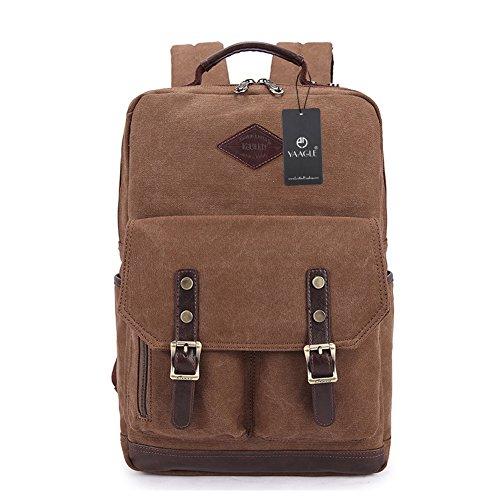 YAAGLE Neu Retrotasche Canvas Rucksack Gepäck Freizeit Laptoptasche Reisetasche Schultasche Schultertasche-armee-grün khaki