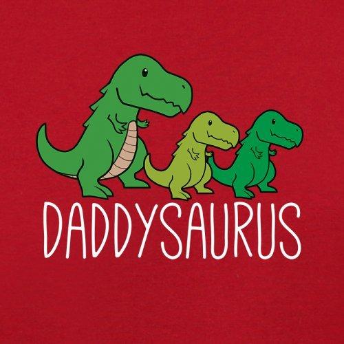 Daddy Saurus - Herren T-Shirt - 13 Farben Rot