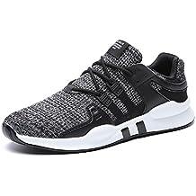 JOYTO Zapatillas de Deporte Zapatos Running para Hombre Deportes Atléticas Impermeables Aire Libre Negro Blanco Gris