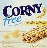 CORNY free  Weiße Schoko, Müsliriegel OHNE Zuckerzusatz, 120g Schachtel mit 6 Riegeln